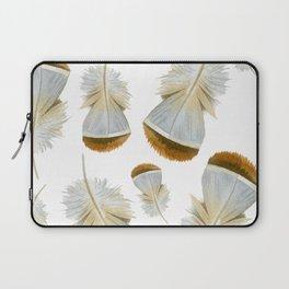 Pretty  Feathers, Seamless Watercolour Pattern Laptop Sleeve