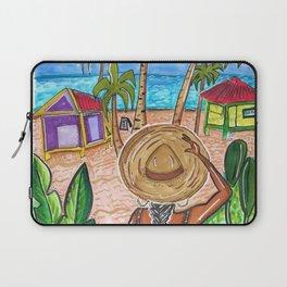 The Split - Caye Caulker - Art and Pizza  Laptop Sleeve