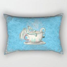 Tea Cup Dragons; Peppermint Rectangular Pillow