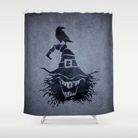 witch Shower Curtains featuring witch by Erdogan Ulker