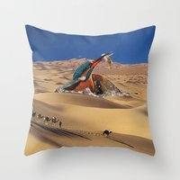 oasis Throw Pillows featuring Oasis by Lerson
