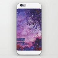 fireflies iPhone & iPod Skins featuring Fireflies by Averin Art