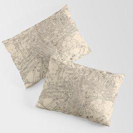 Vintage Map of Leeds England (1851) Pillow Sham