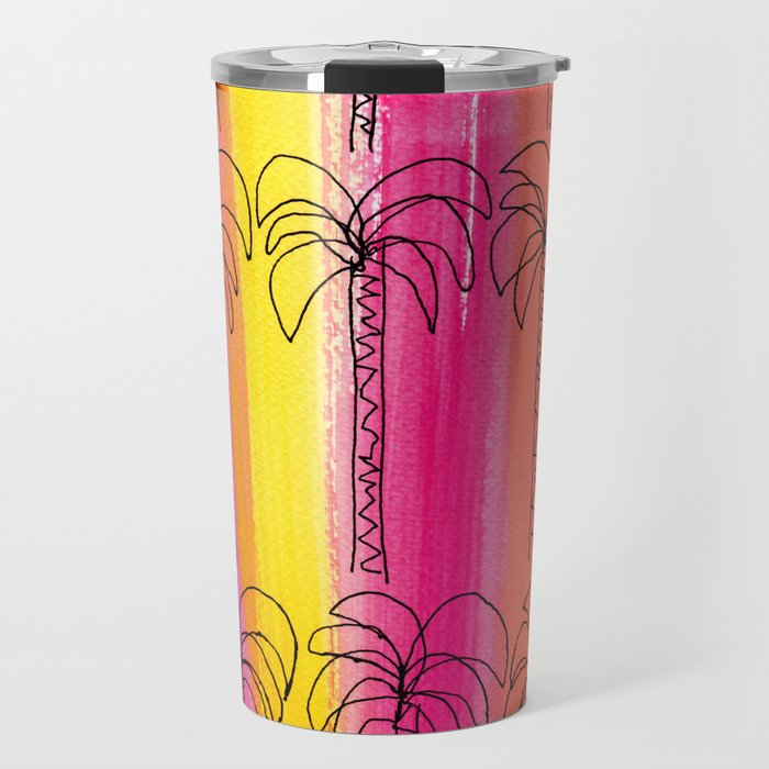 Live For the Moment (palm trees pattern summer beach tropical) Travel Mug