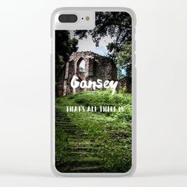 Gansey, that's all there is Clear iPhone Case
