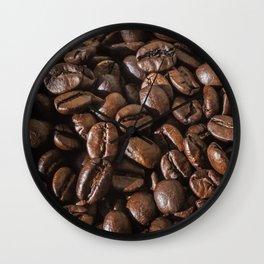 coffee bean macro II Wall Clock