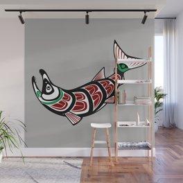 Haida Salmon Wall Mural