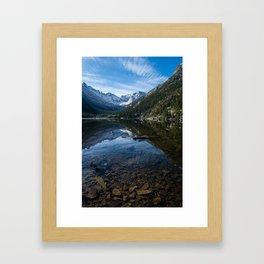 Mills Lake - Rocky Mountain National Park Framed Art Print