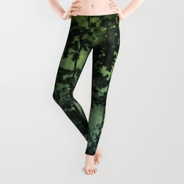 Leaf Shadows on Deck - green2turquoise Leggings