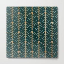 Hidden Sapphire Gold Pattern Metal Print