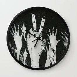 Let Me See Your Hands Wall Clock