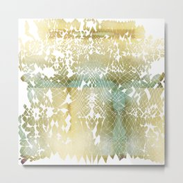 Fractured Gold Metal Print