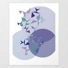 shapes on shapes Art Print