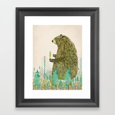 the forest keeper Framed Art Print
