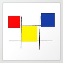 Colourful design squares Art Print