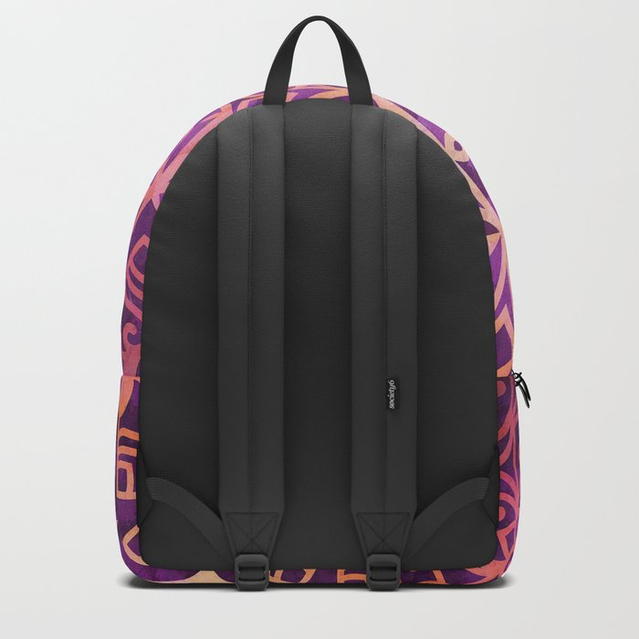 Mandala Pink Night Backpack