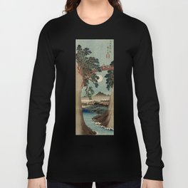Saruhashi Bridge in Kai Province Japan Long Sleeve T-shirt