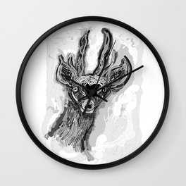 Ciervo de altura Wall Clock