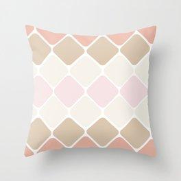 Pattern - Warm Soft Diamonds:. Throw Pillow