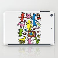 simpsons iPad Cases featuring Keith Haring & Simpsons by le.duc