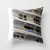 building Throw Pillows featuring Building by anacaprini