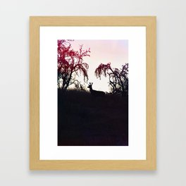 Silhouette Game Strong Framed Art Print
