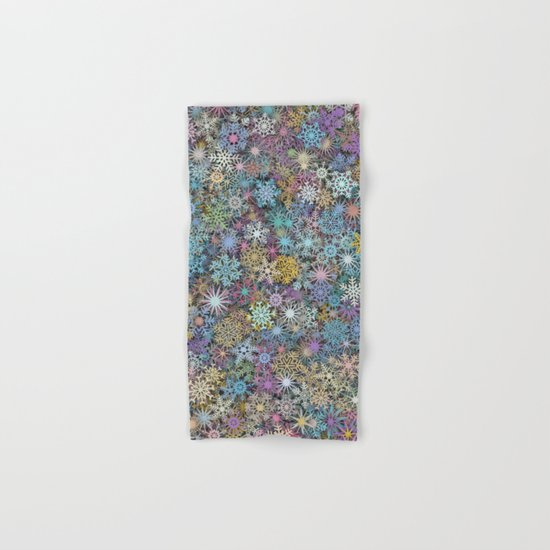 Snowflakes multicolor Hand & Bath Towel