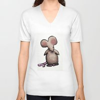 mouse V-neck T-shirts featuring Mouse by Kaila Braley