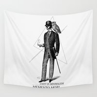 gentleman Wall Tapestries featuring The Gentleman by fjopus7
