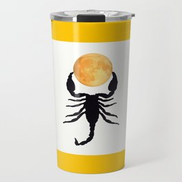 A Scorpion With The Moon In The Frame #decor #homedecor #buyart #pivivikstrm Travel Mug