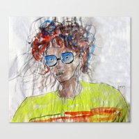 model Canvas Prints featuring Model by anup (art dun)