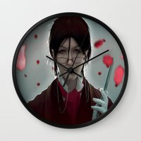 kuroshitsuji Wall Clocks featuring Sebastian Michaelis (Test submission) by Lalasosu2