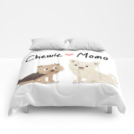 "Custom Artwork, ""Chewie & Momo"" Comforters"