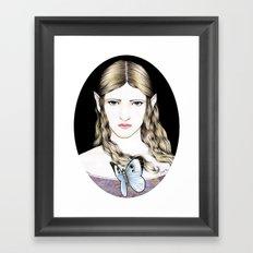 THE BUTTERFLIES' FAIRY Framed Art Print
