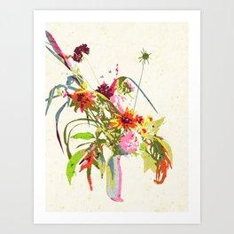 Sitting Pretty #painting #botanical Art Print