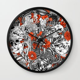 Sixth Mix Black Wall Clock
