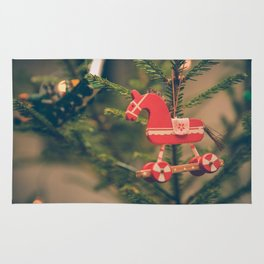 decor hanged on christmas tree Rug
