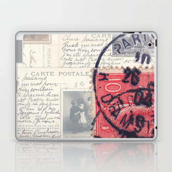 Postale Paris Laptop & iPad Skin