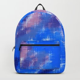 painting texture abstract background in blue pink Backpack