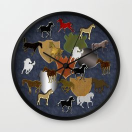Horsing Around with Heraldry Wall Clock