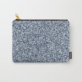 Spacey Melange - White and Oxford Blue Carry-All Pouch