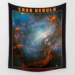 Beating Heart of the Crab Nebula Wall Tapestry