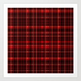 1000 Shades of Dark Red Tartan   Colorful Stripes Pattern   Art Print