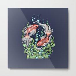 Golden Fish 3 Metal Print