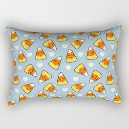 Candy Corn and Heart Pattern Rectangular Pillow