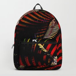 0725-PDJ+NIS Sisters Power Bump Color Abstract Art Zebra Stripe Backpack