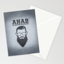 ALL HIPSTERS ARE BASTARDS - Funny (A.C.A.B) Parody Stationery Cards