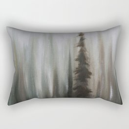 Pacific Northwest Forest oil painting by Jess Purser Rectangular Pillow