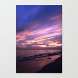 Whale Bay Sunset Canvas Print