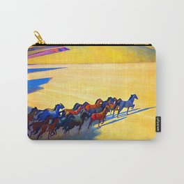Maynard Dixon Wild Horses Carry-All Pouch